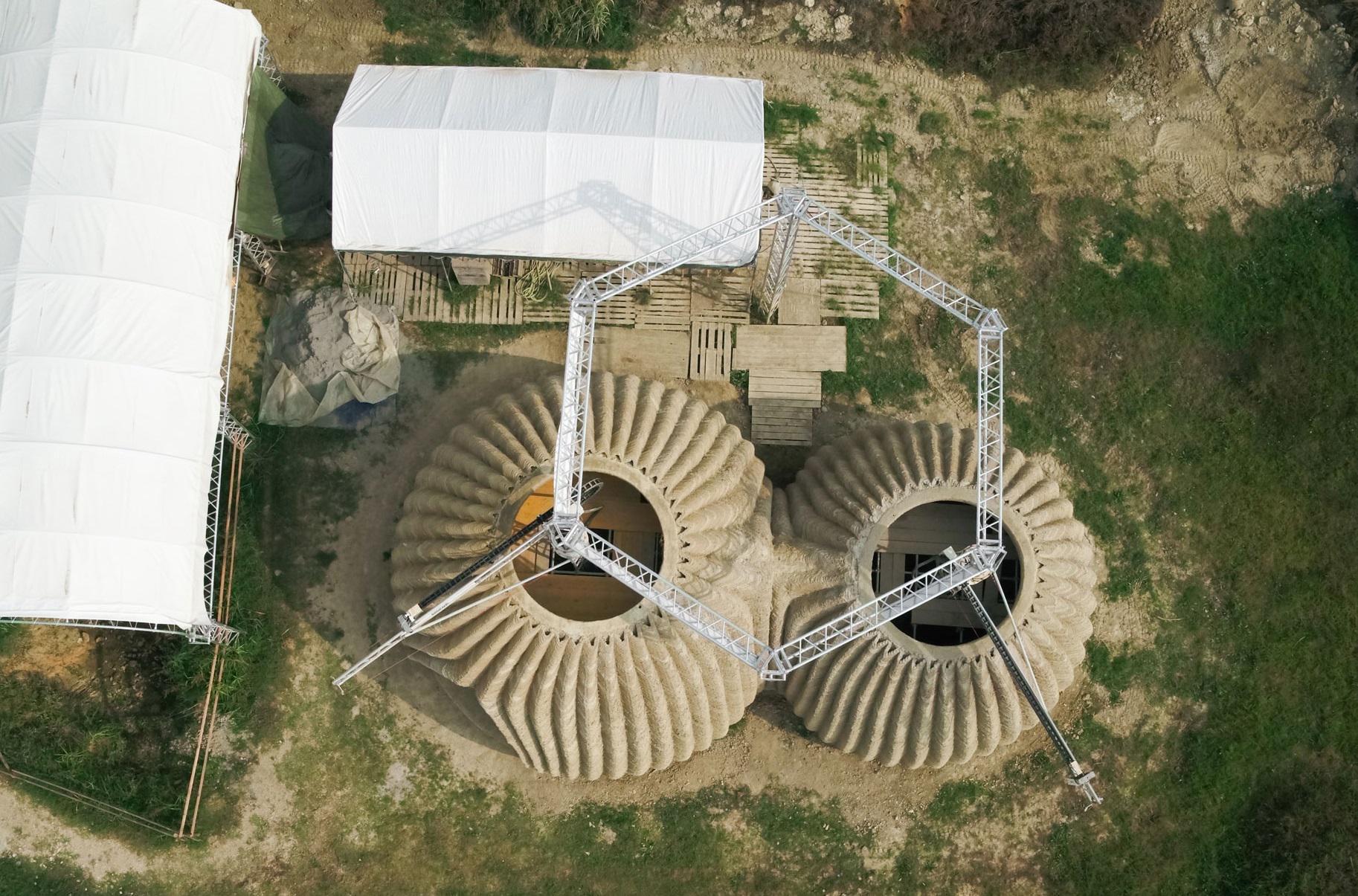 Prende forma Tecla, habitat ecosostenibile stampato in 3D