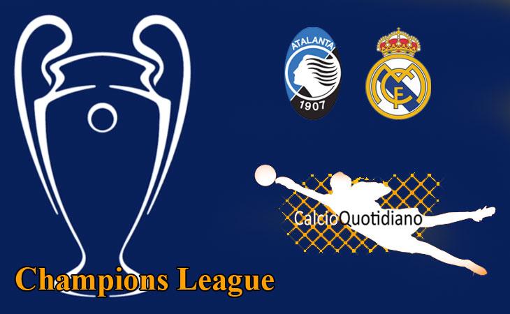 Champions Live: Atalanta-Real Madrid 1-0, la Dea perde con estremo onore