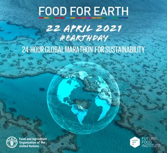 Giornata della terra, il 22 aprile maratona digitale 'Food for Earth'